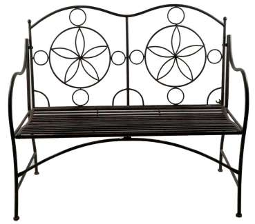 Hübsche Gartenbank Cielo aus Metall - Gartenmöbel Sitzgarnitur