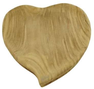 Wunderschöne Herzschale aus Holz - Dekoration