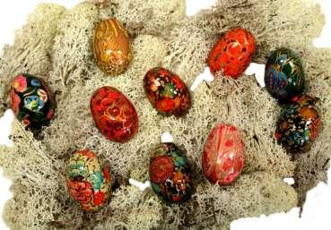 Farbenprächtige Ostereier klein 10er Set ca. 4 cm – Osterdekoration