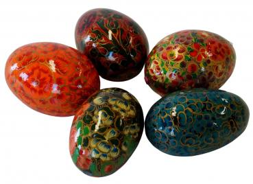 Farbenprächtige Ostereier groß 5er Set ca. 7 cm – Osterdekoration