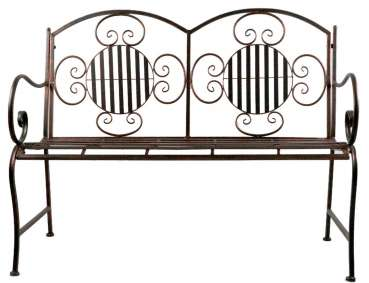 Wundervolle Gartenbank Culta aus Metall - Gartenmöbel Sitzgarnitur
